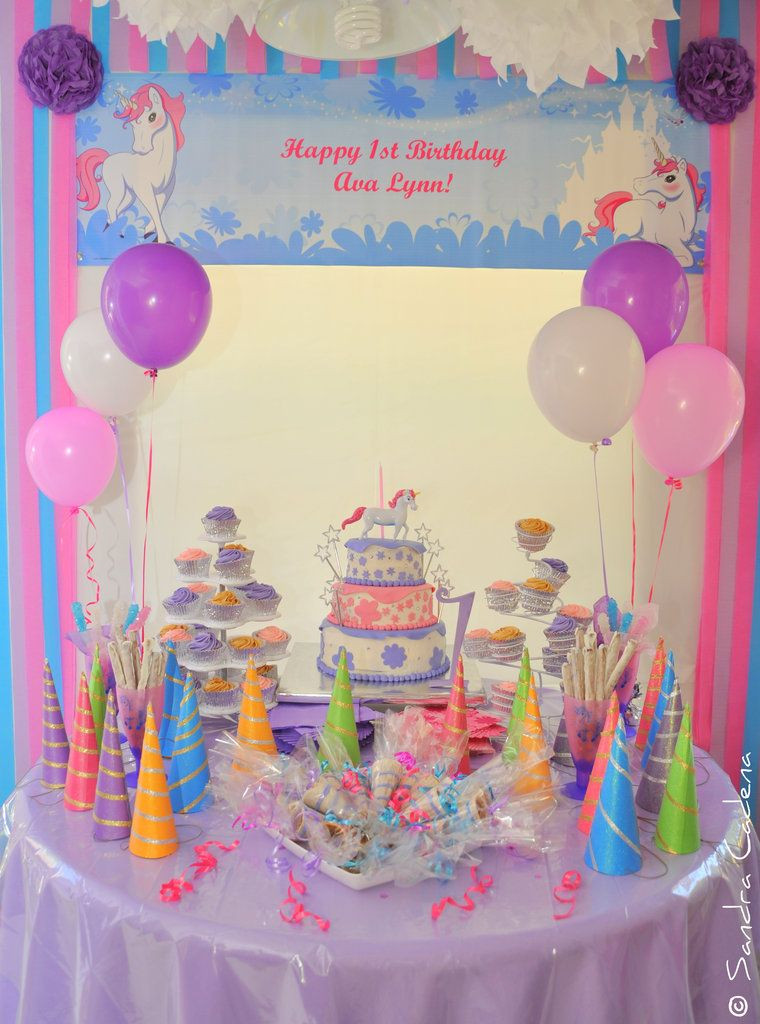 Unicorn Party Table Ideas  Unicorn Party Dessert Table Girl Party