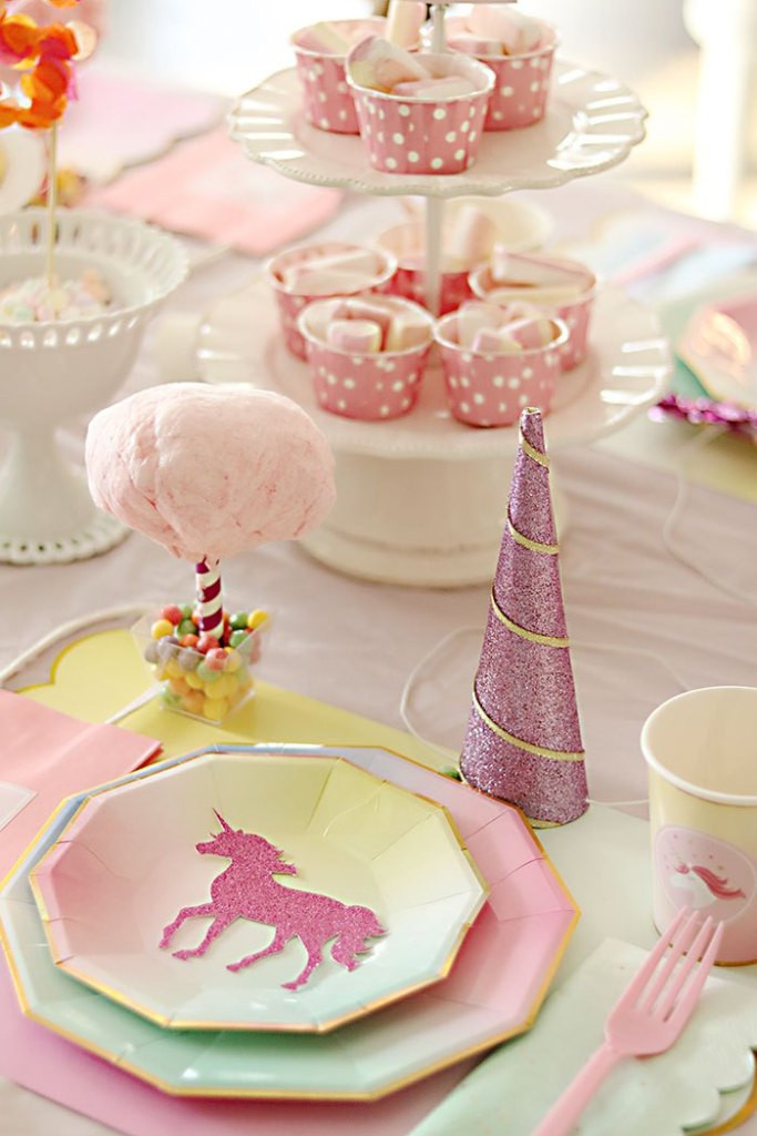 Unicorn Party Table Ideas  Unicorn Birthday Party Darling Darleen