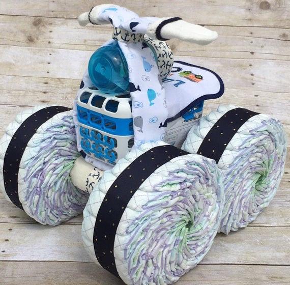 Unique Gift Ideas For Boys  Nautical diaper cake unique diaper cakes diaper cake boy