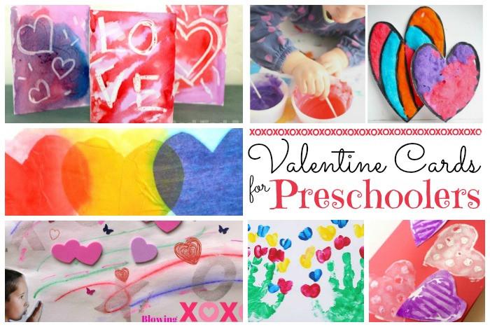 Valentine Cards Craft For Preschool  Valentine Crafts for Preschoolers Red Ted Art s Blog