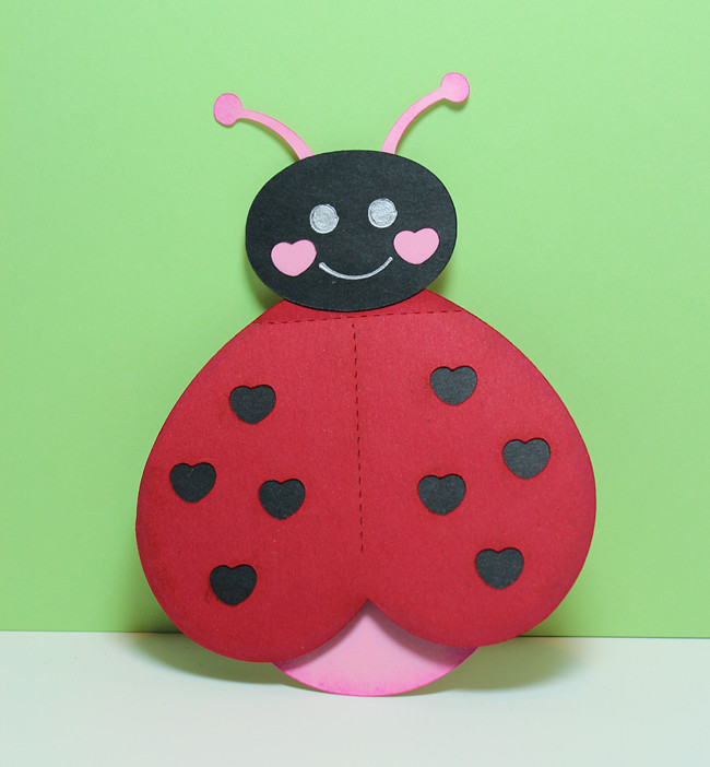 Valentine Cards Craft For Preschool  Be My Love Bug Card Pazzles Craft Room
