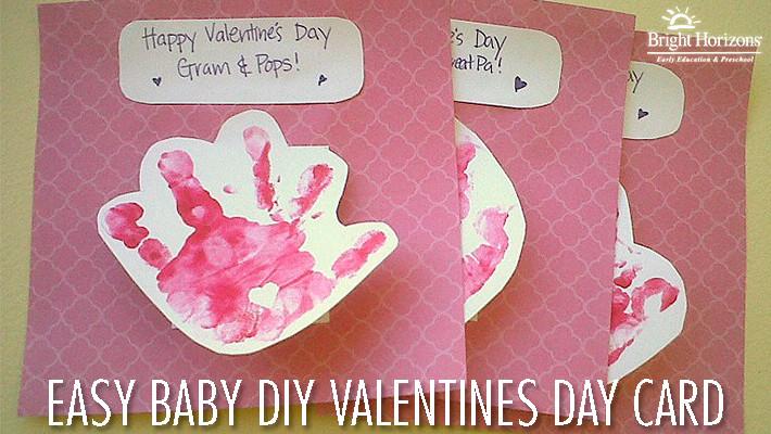 Valentine Cards Craft For Preschool  Easy Baby DIY Valentine s Day Card