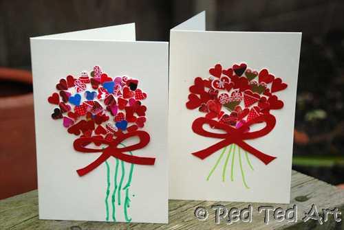 Valentine Cards Craft For Preschool  Kids Craft Valentine s Handprints & Cards Red Ted Art s