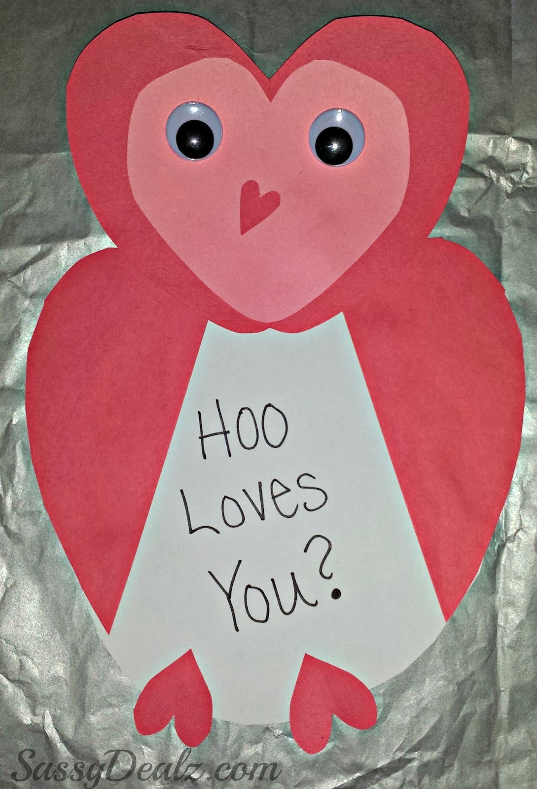 Valentine Cards Craft For Preschool  Owl Valentines Day Card Idea For Kids Crafty Morning