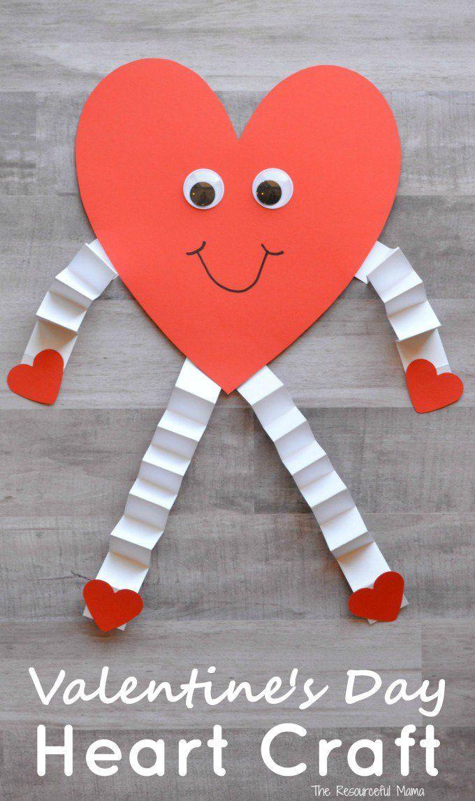 Valentine Cards Craft For Preschool  Valentine s Day Heart Craft for Kids