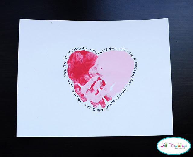 Valentine Cards Craft For Preschool  Handprint Hearts