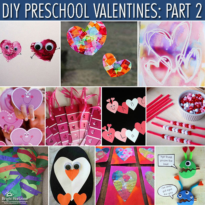 Valentine Cards Craft For Preschool  DIY Preschool Valentines Gifts