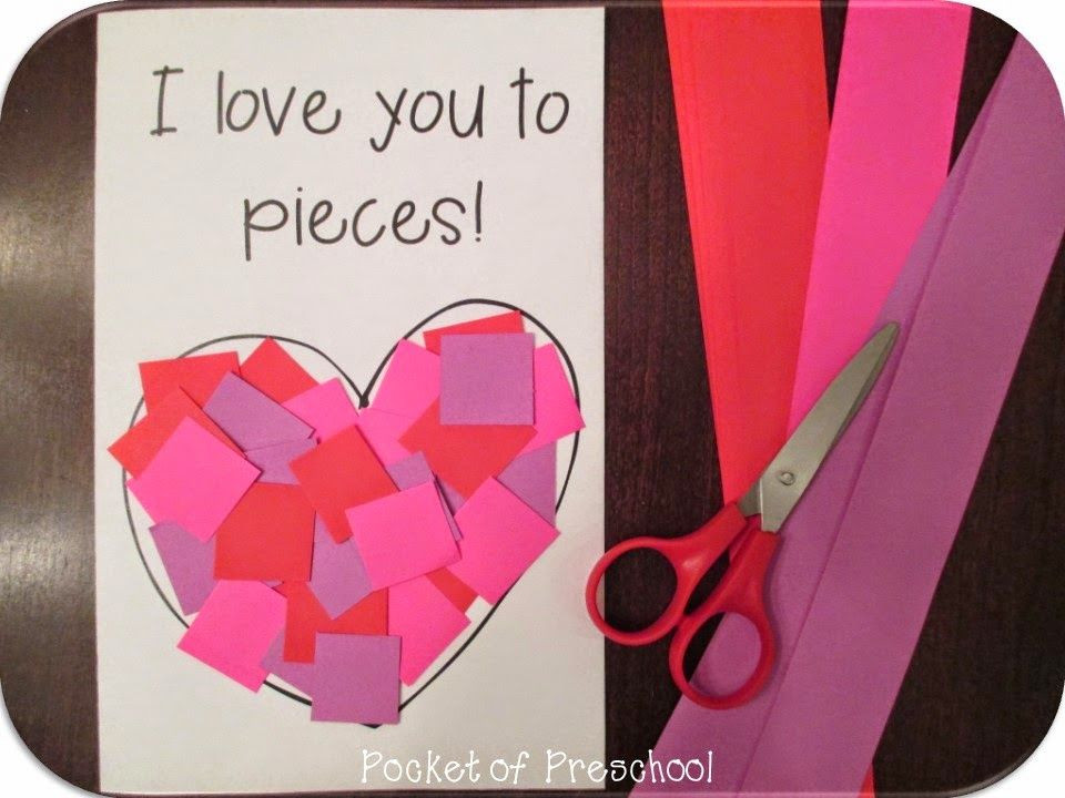 Valentine Cards Craft For Preschool  Valentine s Day Card Give students pre cut strips and
