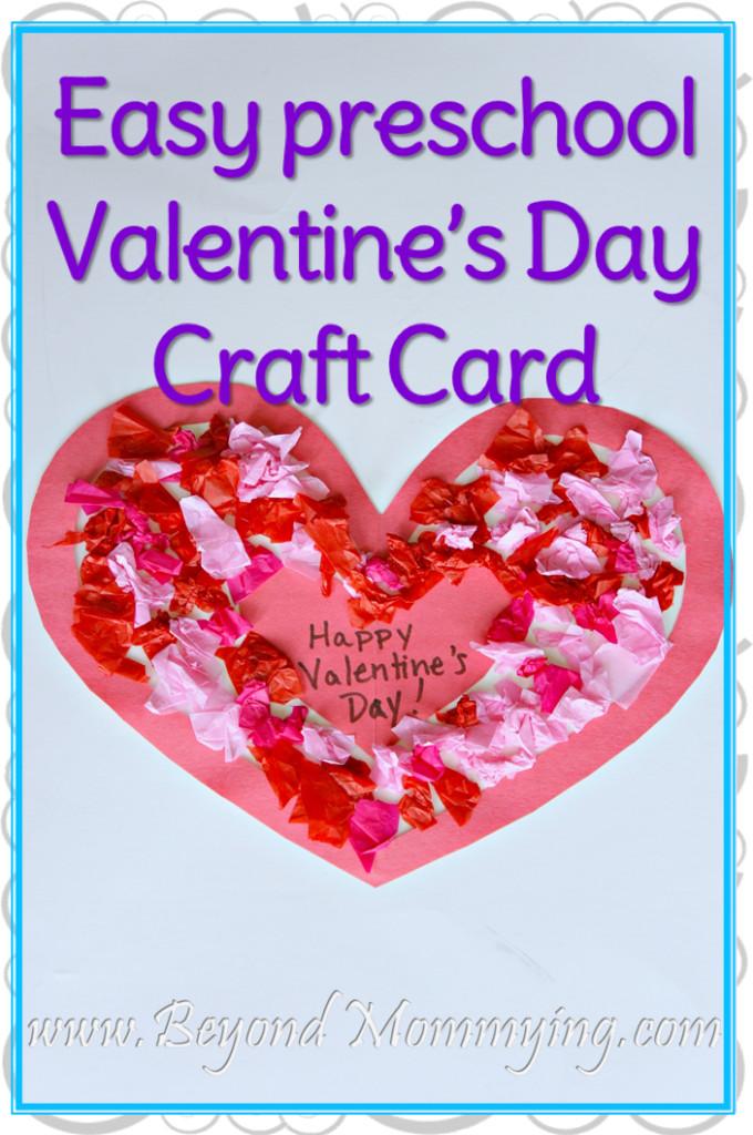 Valentine Cards Craft For Preschool  Easy Preschool Valentine s Day Craft Card Beyond Mommying