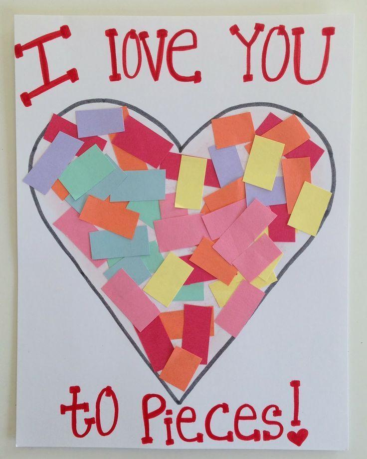 Valentine Cards Craft For Preschool  toddler valentine s day craft