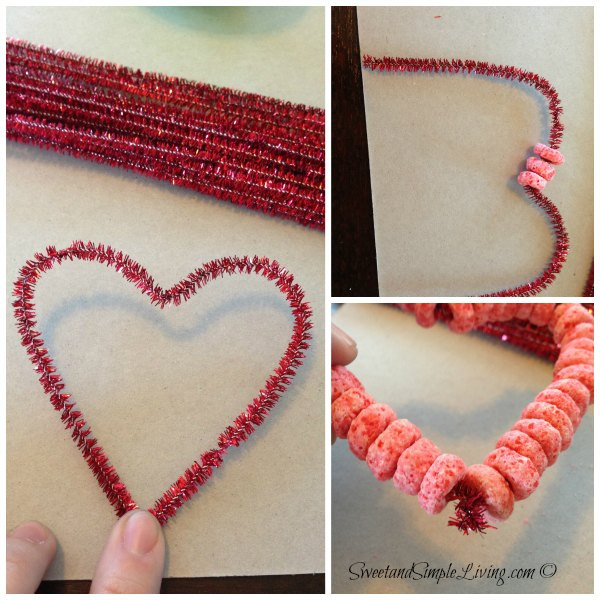 Valentine Craft Preschoolers  Preschool Valentine Crafts Fruit Loop Heart Bird Feeder