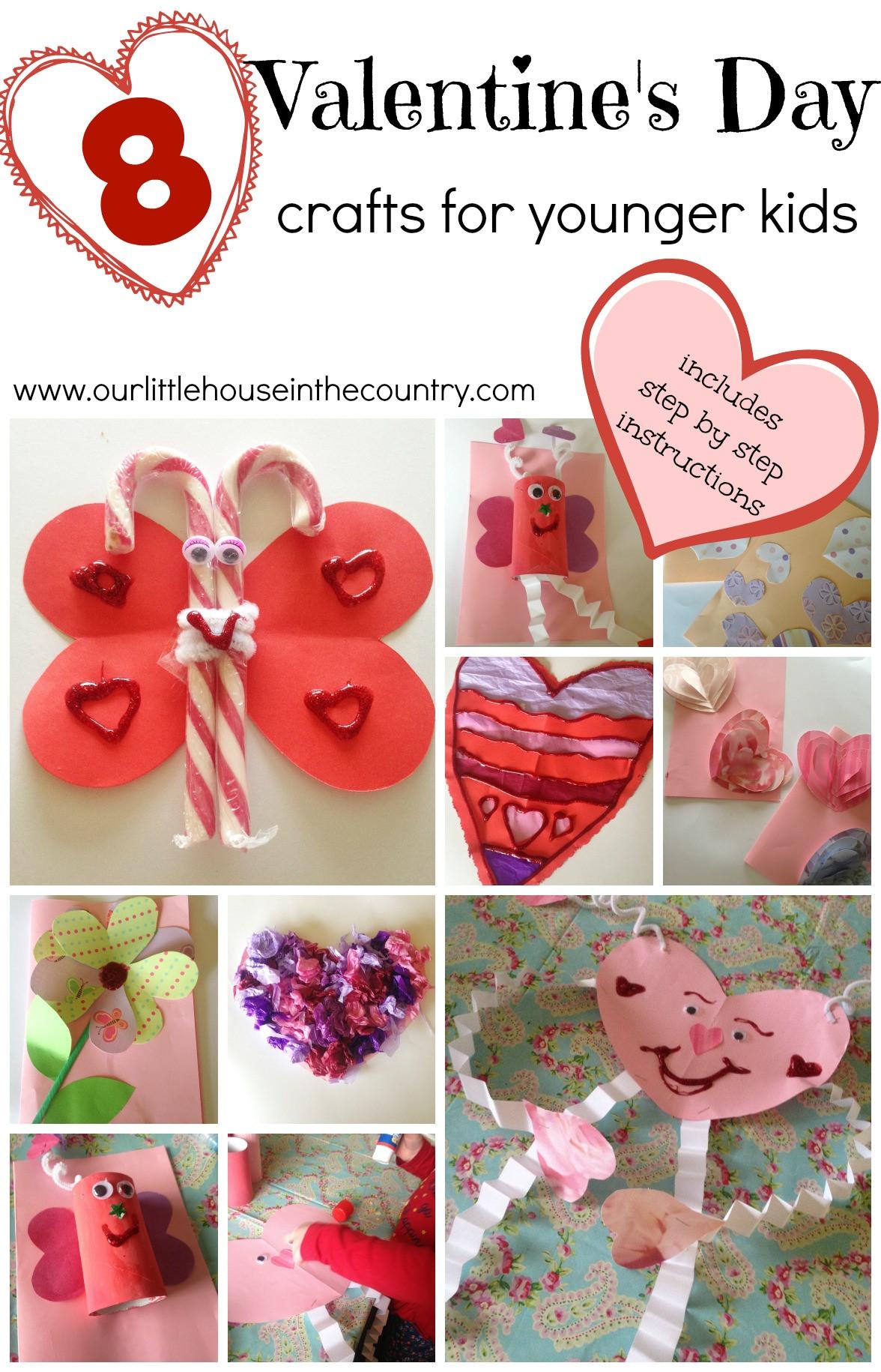 Valentine Craft Preschoolers  Valentine's Day Crafts for Younger Children Preschool and