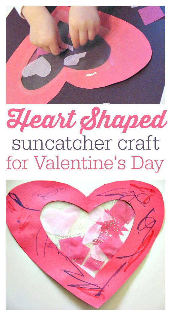 Valentine Craft Preschoolers  Toddler Valentine s day craft
