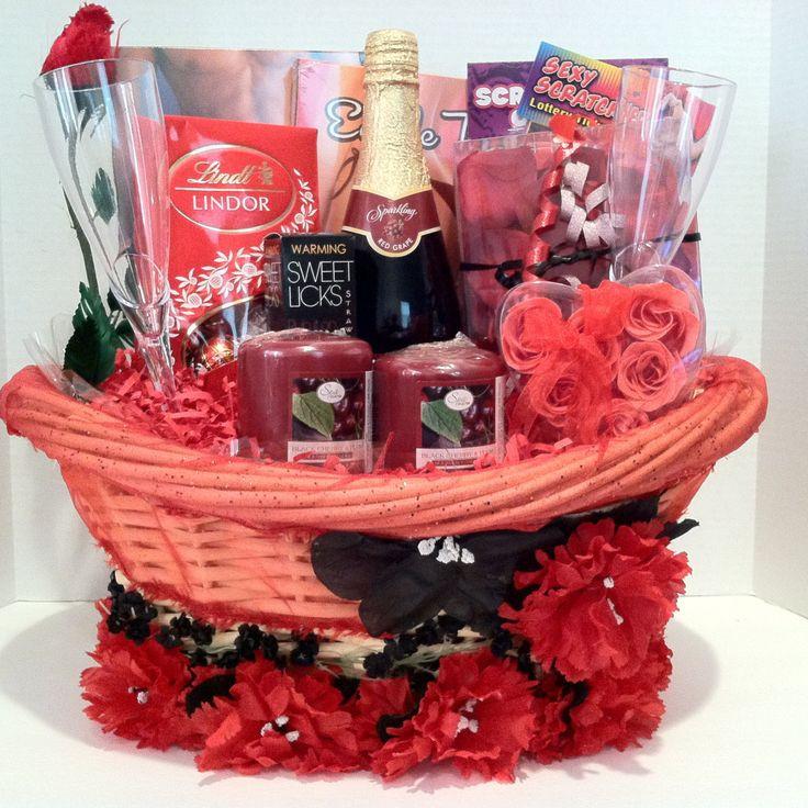 Valentine Day Gift Basket Ideas  47 best Romantic Evening Baskets images on Pinterest