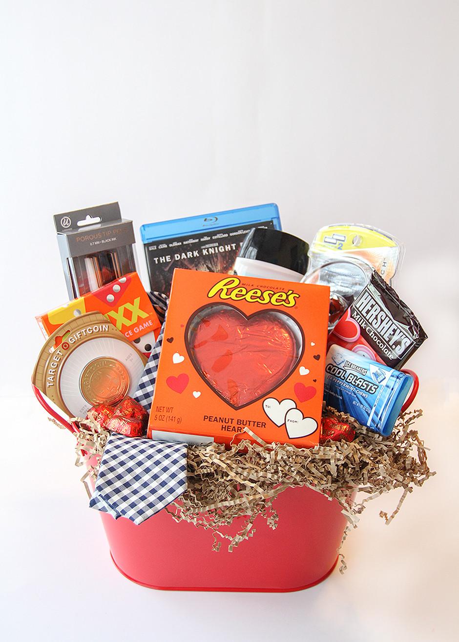 Valentine Day Gift Basket Ideas  Valentine s Day Gift Basket For Him Busy Mommy