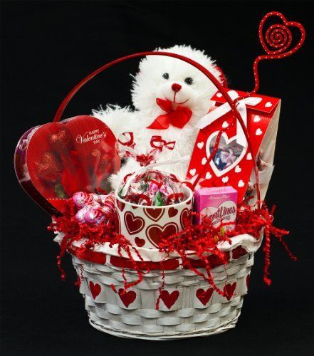 Valentine Day Gift Basket Ideas  289 best images about Valentines day basket on Pinterest