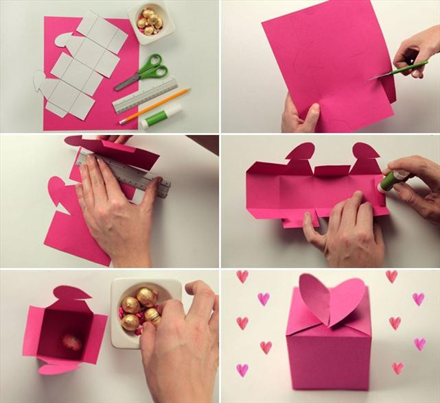 Valentine Day Gift Box Ideas  Homemade Valentine ts Cute wrapping ideas and small