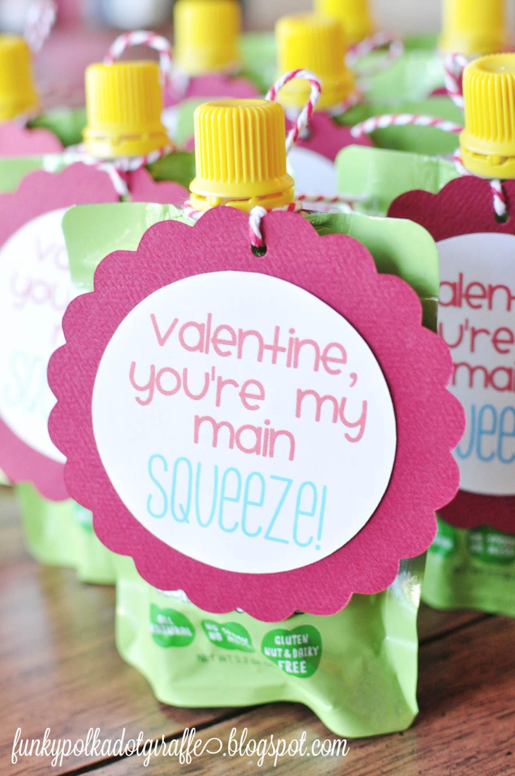 Valentine Gift Ideas For Child  Funky Polkadot Giraffe Preschool Valentines You re My