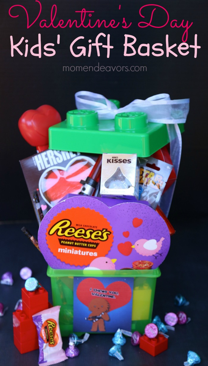 Valentine Gift Ideas For Child  Fun Valentine's Day Gift Basket for Kids