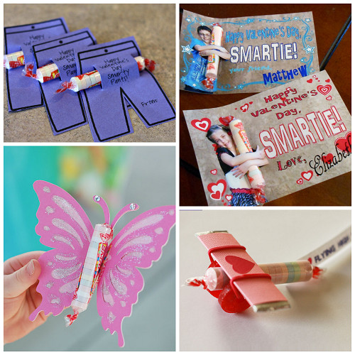 Valentine Gift Ideas For Child  Valentine Ideas for Kids Using Smarties Candy Crafty
