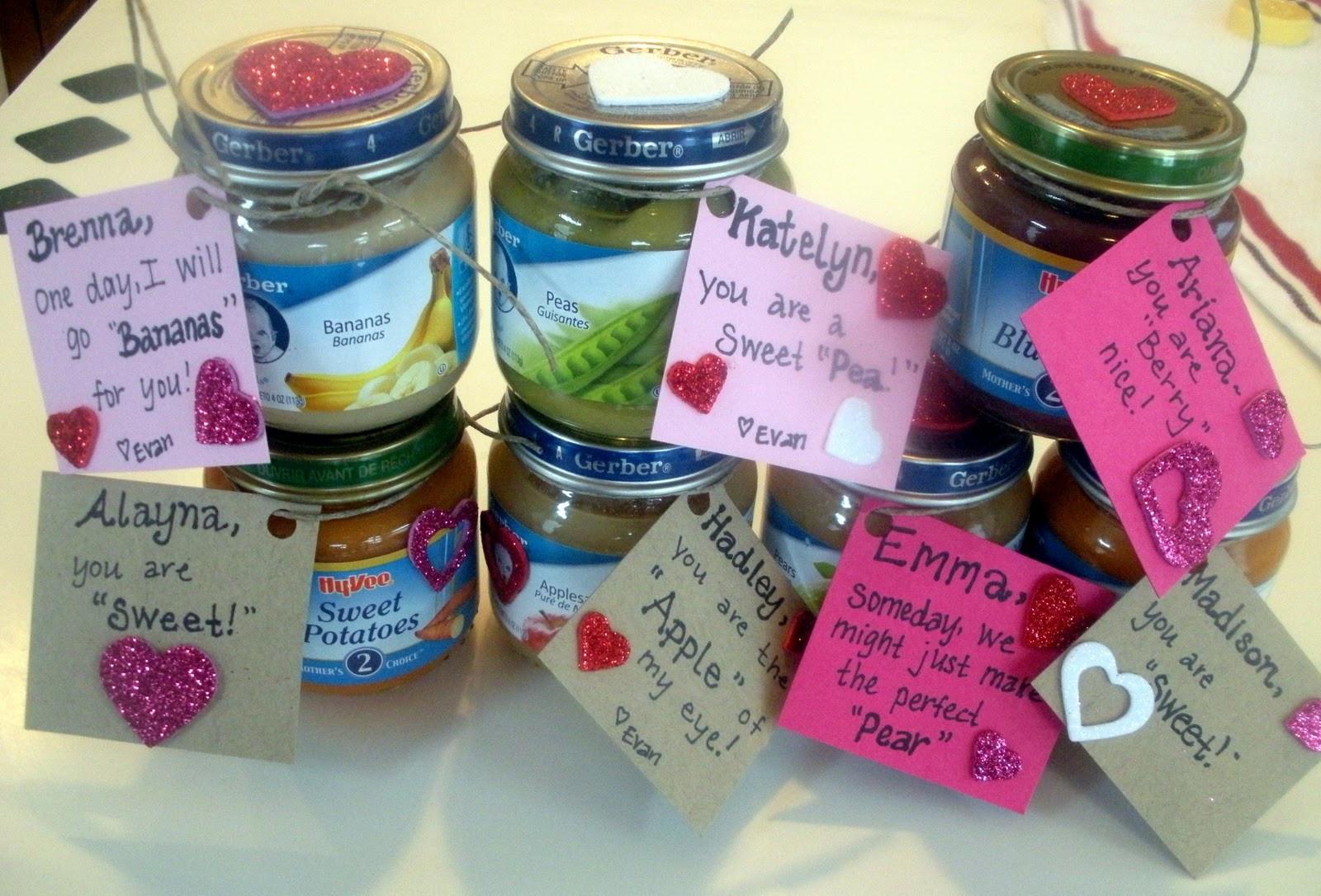Valentine Gift Ideas For Child  Baby food Valentines