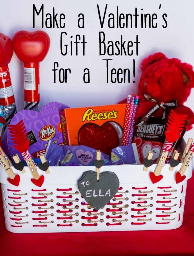 Valentine Gift Ideas For Daughter  Make a Valentine s Gift Basket for Teens