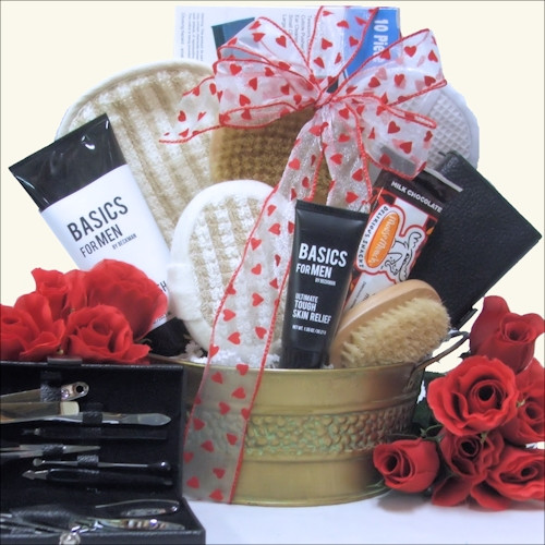 Valentine Guy Gift Ideas  Men Valentine Gift Baskets for Him Valentine Gift Ideas