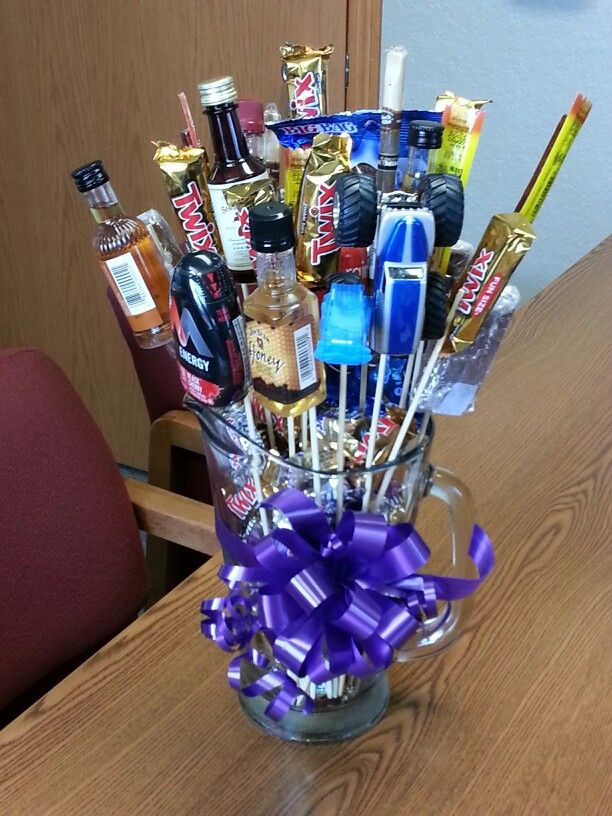 Valentine Guy Gift Ideas  Cute idea in lieu of flowers candy bouquets