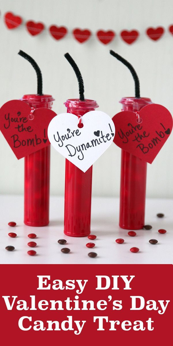 Valentine'S Day Creative Gift Ideas  You're The Bomb DIY Valentine s Day Candy Craft
