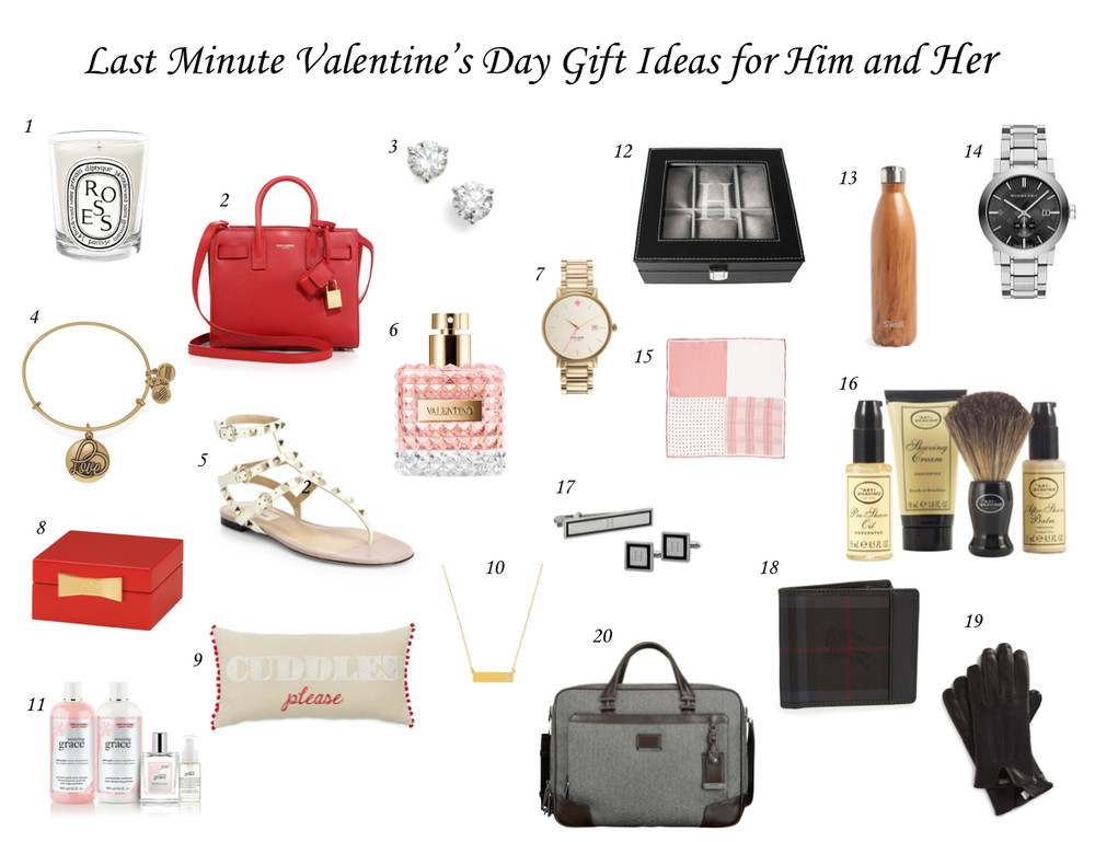 Valentine'S Day Gift Ideas For Her  Last Minute Valentine s Day Gift Ideas for Him and Her