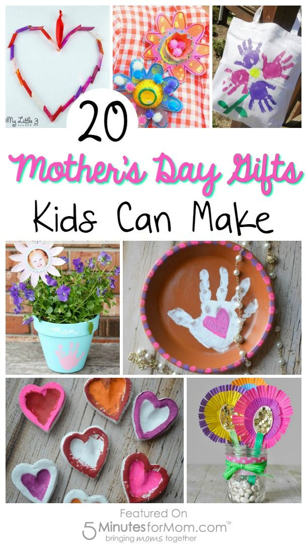 Valentine'S Day Gift Ideas For Kids  20 Mother s Day Gifts Kids Can Make
