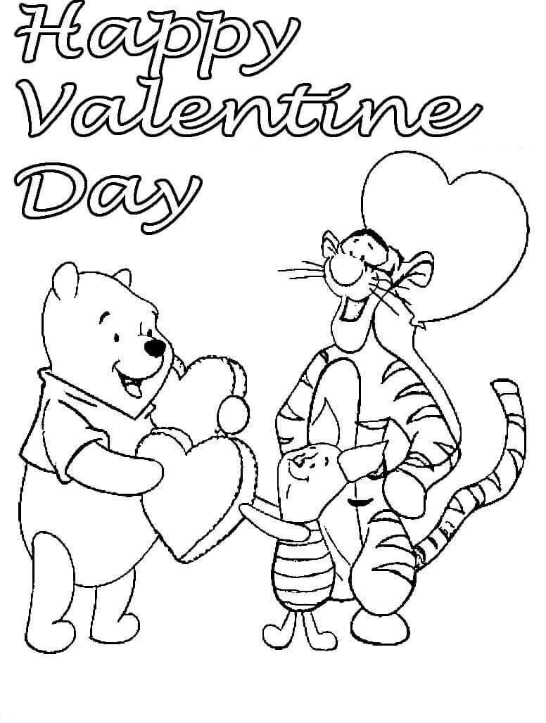 Valentines Coloring Pages For Kids  Free Printable Valentine s Day Coloring Pages
