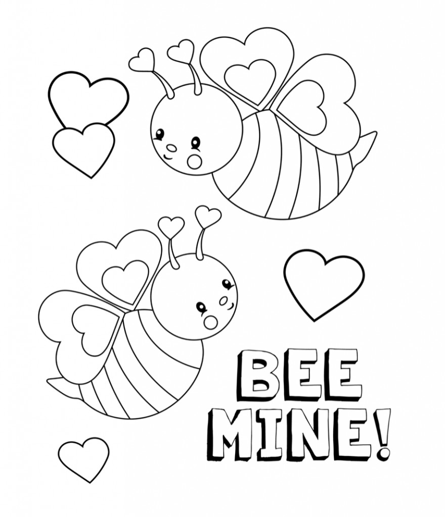 Valentines Coloring Pages For Kids  Valentines Coloring Pages Happiness is Homemade