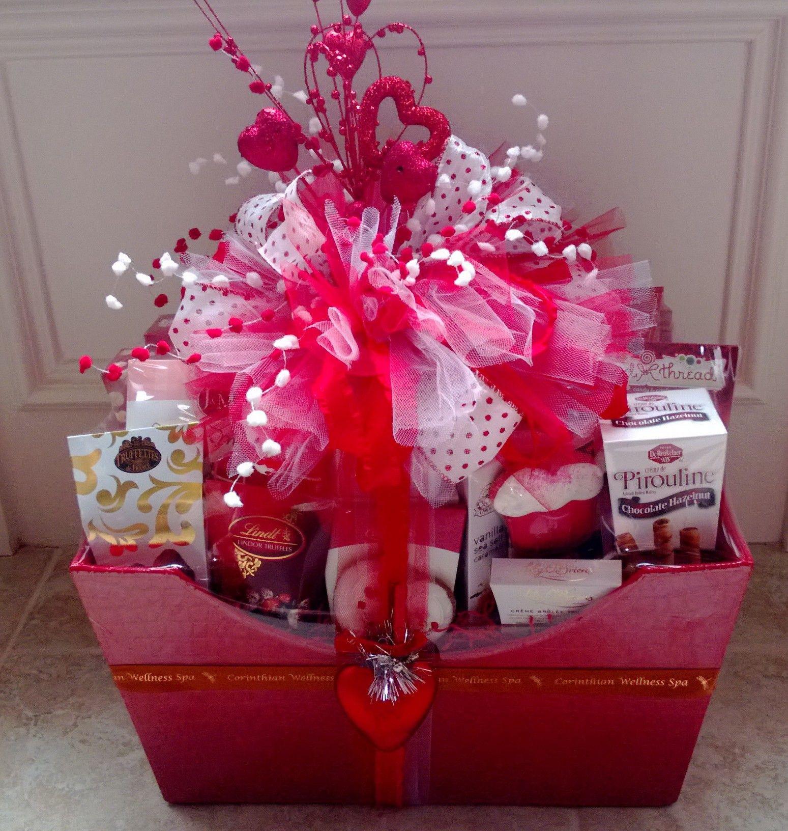 Valentines Day Gift Basket Ideas  Valentine s Basket Gift Wrapping Ideas