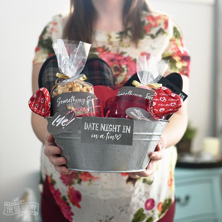 Valentines Day Gift Basket Ideas  Valentine s Day Date Night In Gift Basket Idea 24 More