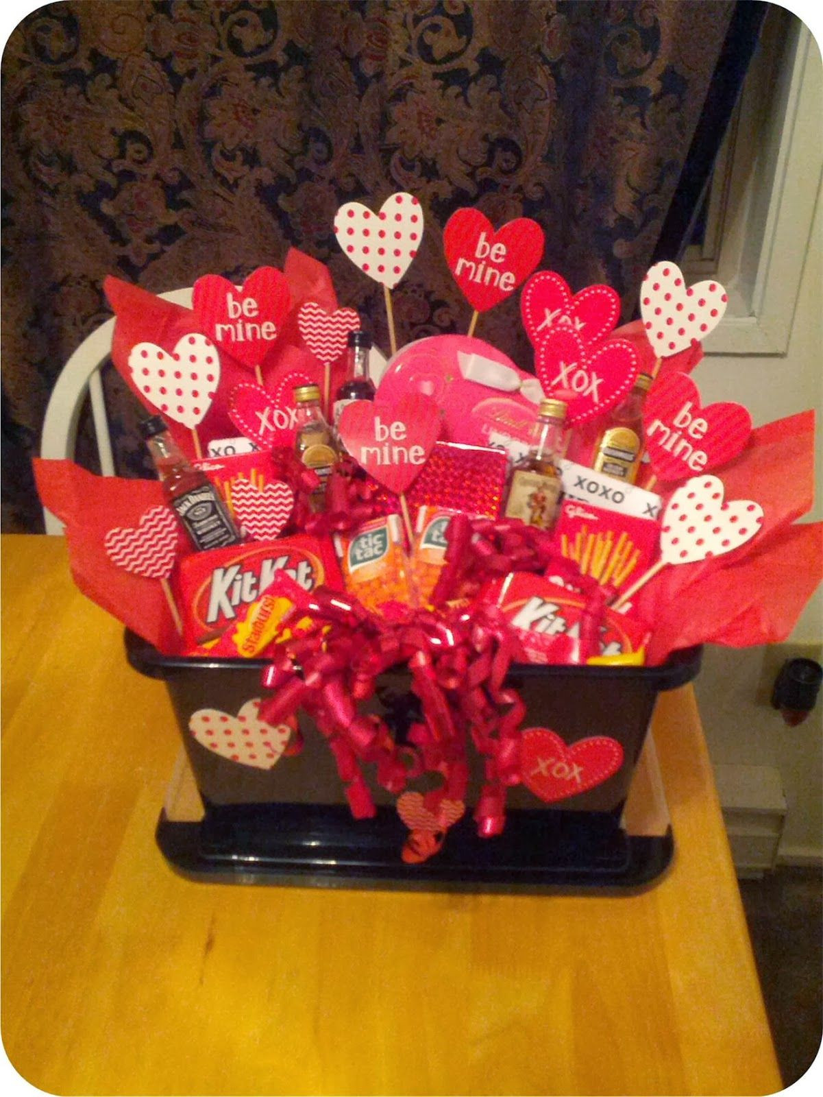 Valentines Day Gift Basket Ideas  A Valentine s basket for him Create your own custom t