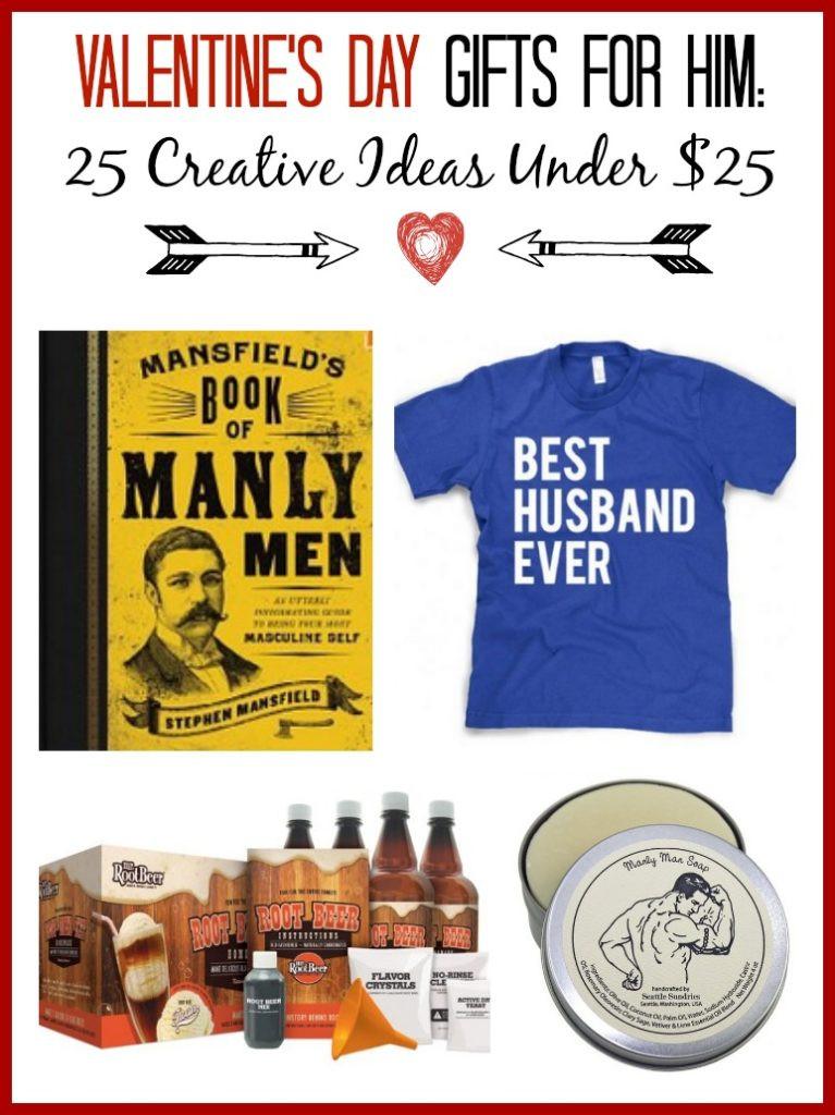 Valentines Gift Ideas For Him  Valentine s Gift Ideas for Him 25 Creative Ideas Under $25