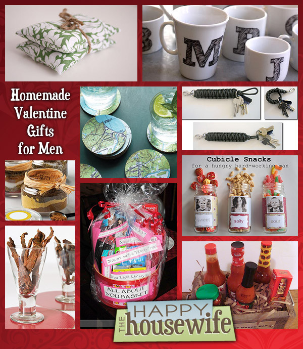 Valentines Guy Gift Ideas  Fourteen Homemade Gifts for Men The Happy Housewife