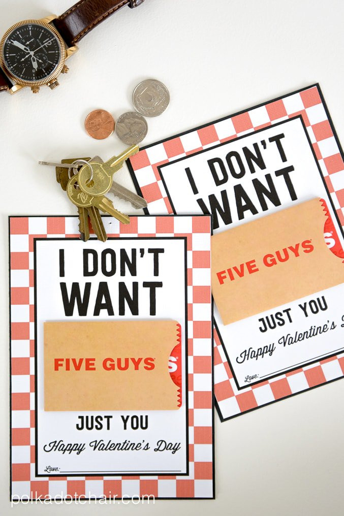 Valentines Guy Gift Ideas  Valentine Gifts for Him a Free Printable Gift Card Holder