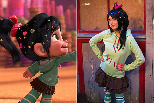 Vanellope Von Schweetz Costume DIY  Cosplay of the Day Wreck It Ralph s Vanellope Is Pretty