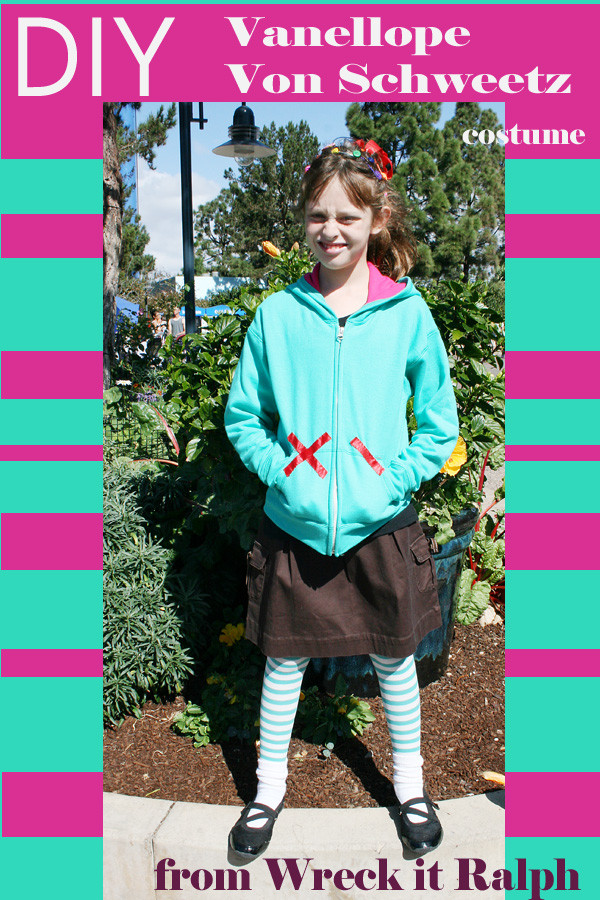 Vanellope Von Schweetz Costume DIY  Halloweentime at Disneyland