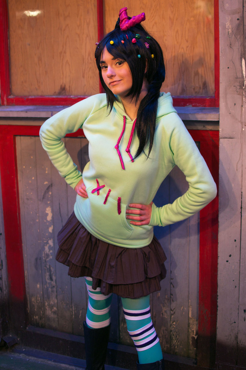 Vanellope Von Schweetz Costume DIY  DIY Disney Halloween Costume Round Up EASY DIY Disney
