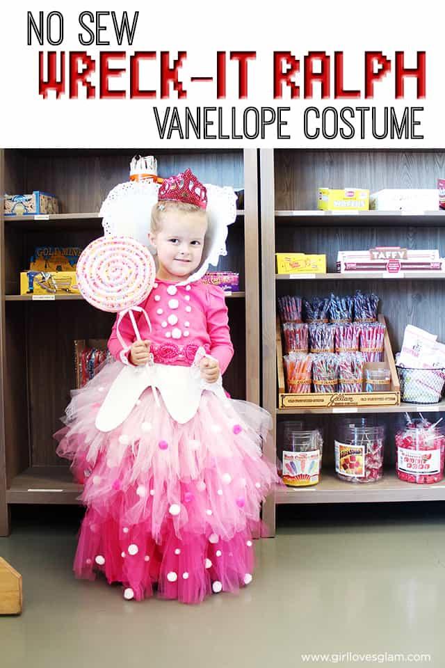 Vanellope Von Schweetz Costume DIY  No Sew Vanellope Von Schweetz Costume from Wreck it Ralph