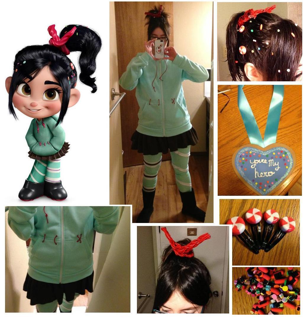 Vanellope Von Schweetz Costume DIY  Vanellope Von Schweetz Cosplay by a ualgoddess on DeviantArt