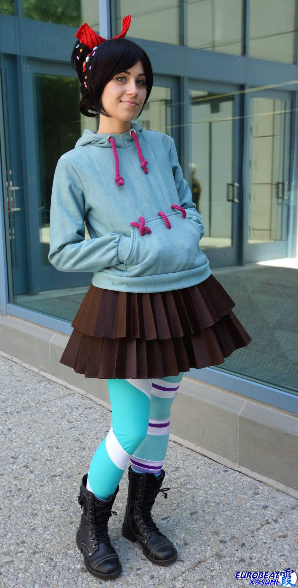 Vanellope Von Schweetz Costume DIY  Vanellope Von Schweetz Wreck It Ralph by Steff Von