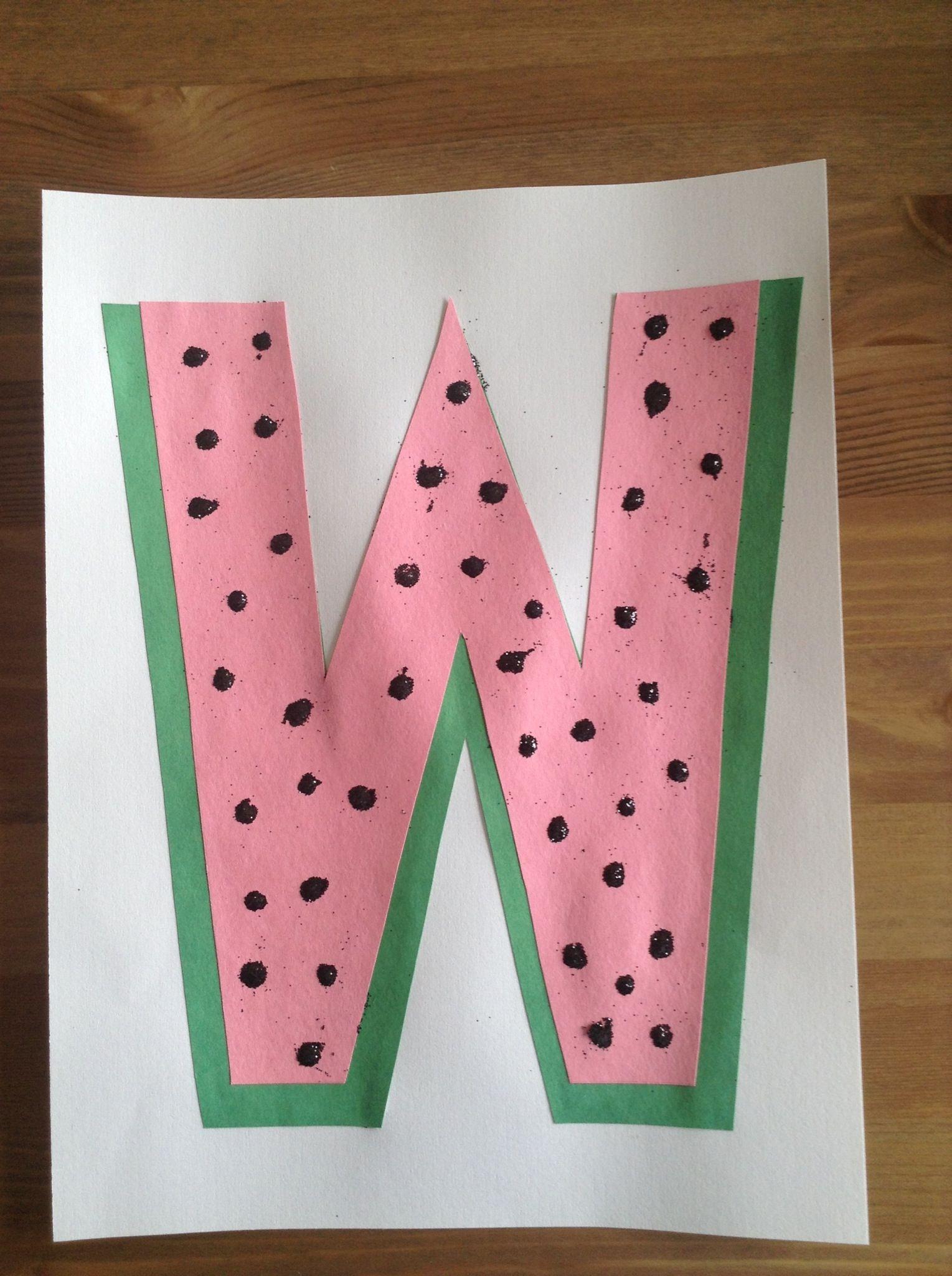 W Crafts For Preschool  W is for Watermelon Craft Preschool Craft Letter of