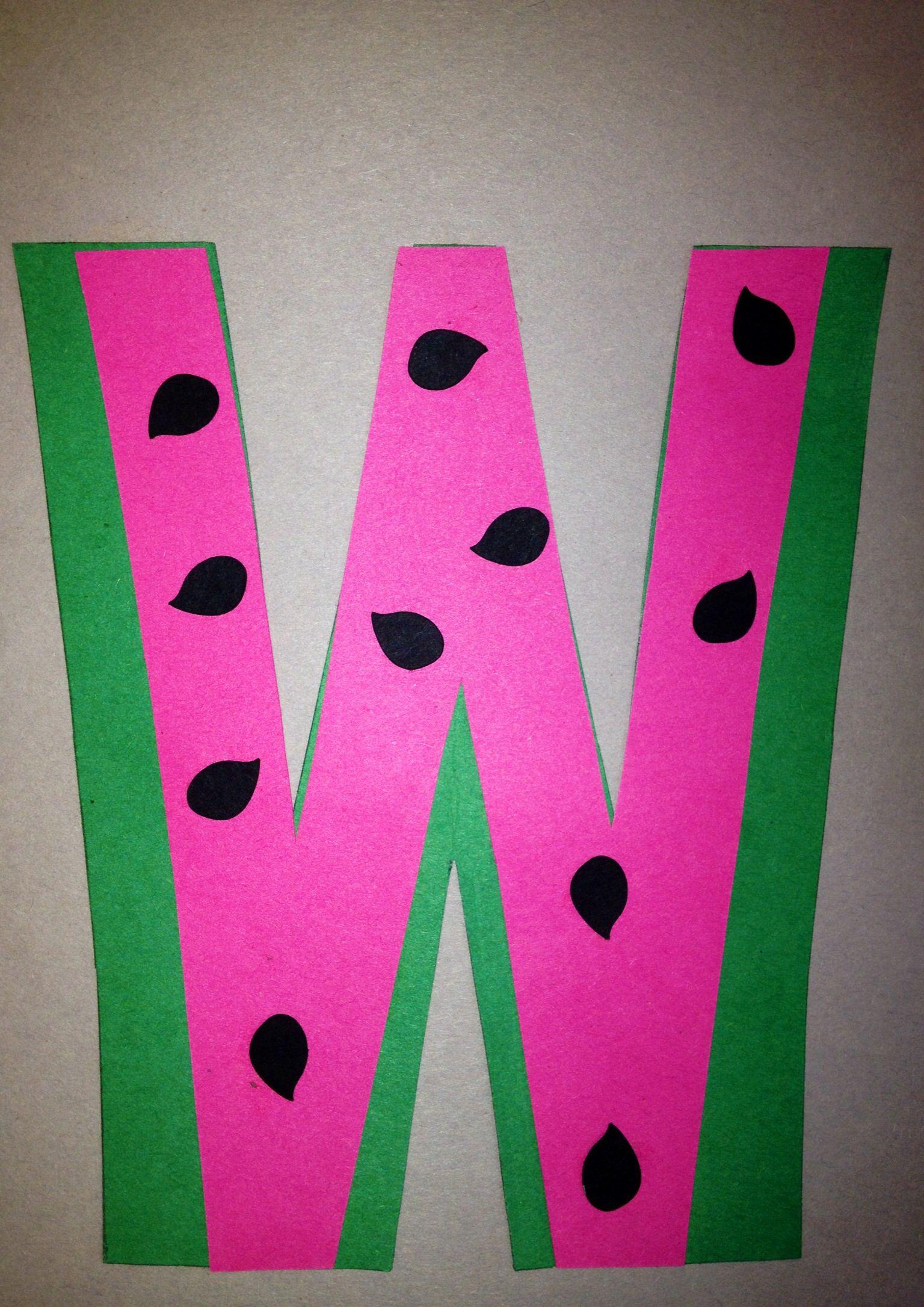 W Crafts For Preschool  Preschool Letter W Craft