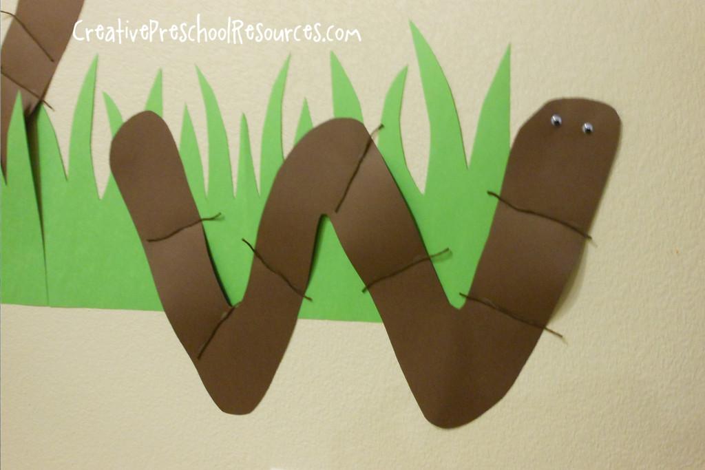 W Crafts For Preschool  Letter W Worm