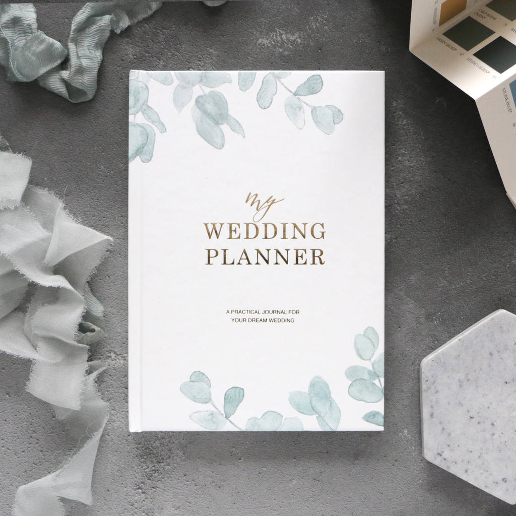 Wedding Planning Gift Ideas  wedding planner book eucalyptus