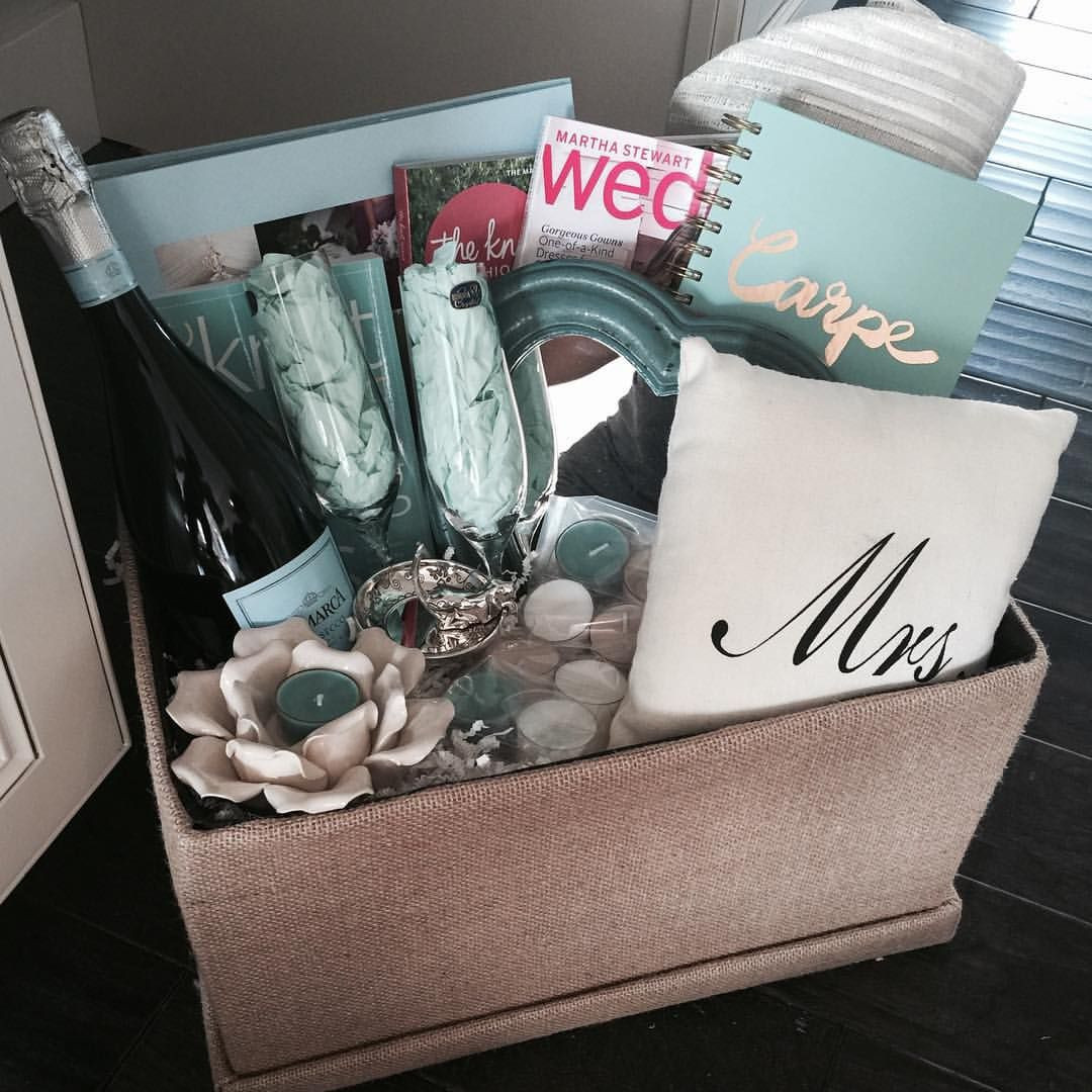 Wedding Planning Gift Ideas  Engagement t basket for my brothers new fiancé The knot